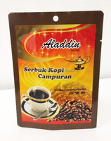 3 side seal bag for coffee mixture powder,custom printing for instant beverage pack,laminate multiple layer aluminium foil bag