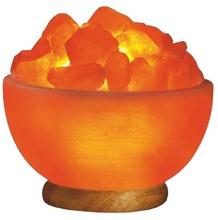 "Crystal Salt Natural 6"" Himalayan Salt Fire Bowl Lamp Asthma Allergy Relief Salt"
