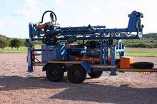 Hydraulic DTH drilling rig AKR-200 made in Japan.