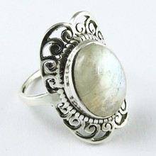 Frost Breeze !! Rainbow Moonstone 925 Sterling Silver Ring, Silver Jewellery Wholesaler, Silver Jewellery