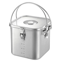 Heatable handy large stainless steel pots for food warmer