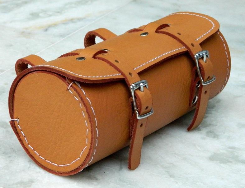 Bicycle Saddle Bags Leather Leather Bicycle Orange Saddle