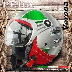 (Verona) 2015 New Italian Design ECE DOT casco motorcycle helmet Unisex open face vintage leather style (PEDA MOTOR)