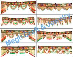 Wholesale Indian Handmade Crystal Work Wall Hanging-Diwali Special Decor items-Pearl Beaded door hanging
