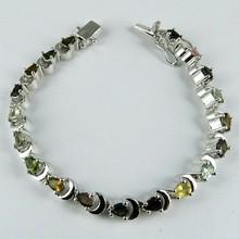 Attaractive pedra turmalina 925 pulseira de prata indiano jóias de prata Wholeseller jóias de prata índia