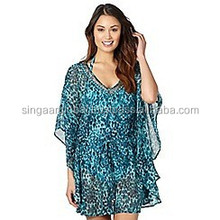 2015 New Stylis Ocean Color Fashionable Kaftan Tops For Ladies / Free Size / Digital Print