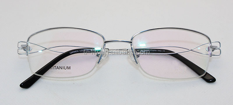 Rimless Eyeglass Frames With Bling : New Trend Product Womens Rhinestone Titanium Semi Rimless ...