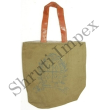 INDIAN INDUSTRIAL LOOK TOTE BAG 100% COTTON VINTAGE HANDMADE CANVAS BEG & LEATHER HANDLED SHOPPING BAG SIB21