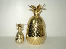 Copper,Brass Shining Pineapple Mug with metal drinking straw, Hot Selling Pineapple shape mug very shiny,used for barware