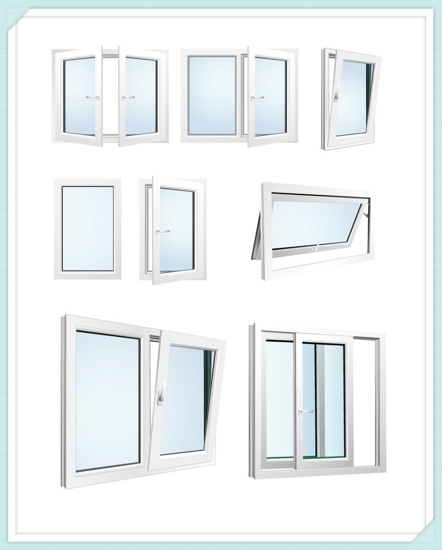 Cheap price pvc upvc window and door for building view for Upvc windows and doors