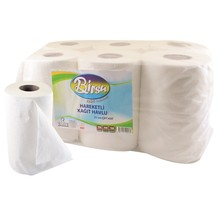 BIRSU 2Ply Paper Towel Rolls for Towel Machines (4Kg - 70Mt)