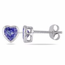 Hot Sale Jewelry Fashion Stud Earring Wholesale Heart Crystal Earring
