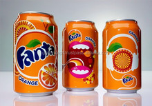 Fanta Soft Drinks Orange Flavour 330ml can/ Carbonated Drinks/ Beverages/ Canned Drinks