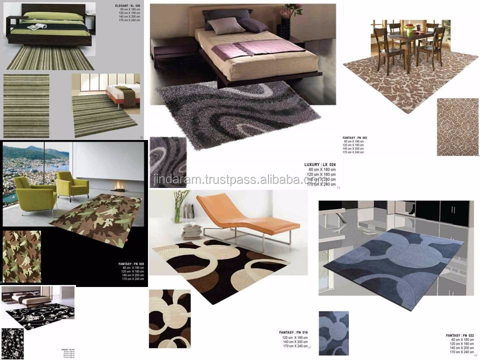Modern design cotton knotted pile carpets .JPG