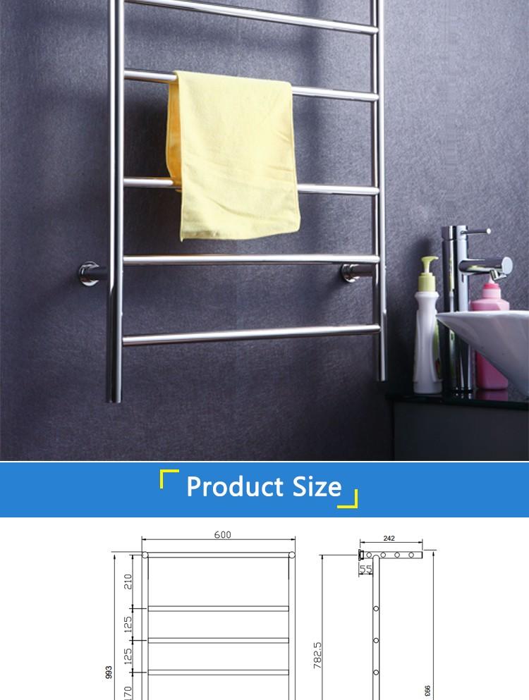 bad accessoires edelstahl handtuchtrockner edelstahl elektrische handtuchhalter heizung. Black Bedroom Furniture Sets. Home Design Ideas