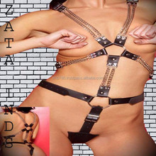 ladies faux leather teddy lingerie, strap teddy
