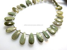 8'' AAA Natural Cats Eye Faceted Briolette Pear Drops Size - 6x10MM To 6x15MM Approx 100% Natural Ask a Question $55.00 USD