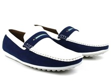 Wholesale Men's White/Blue Casual Loafer Shoes