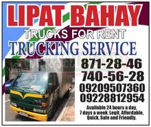 Lipat bahay Trucks for rent trucking service
