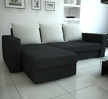 Corner sofa bed with storage MARS