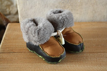 Sheepskin BABY slippers Lather moccasins Wool & Leather products manufacturer