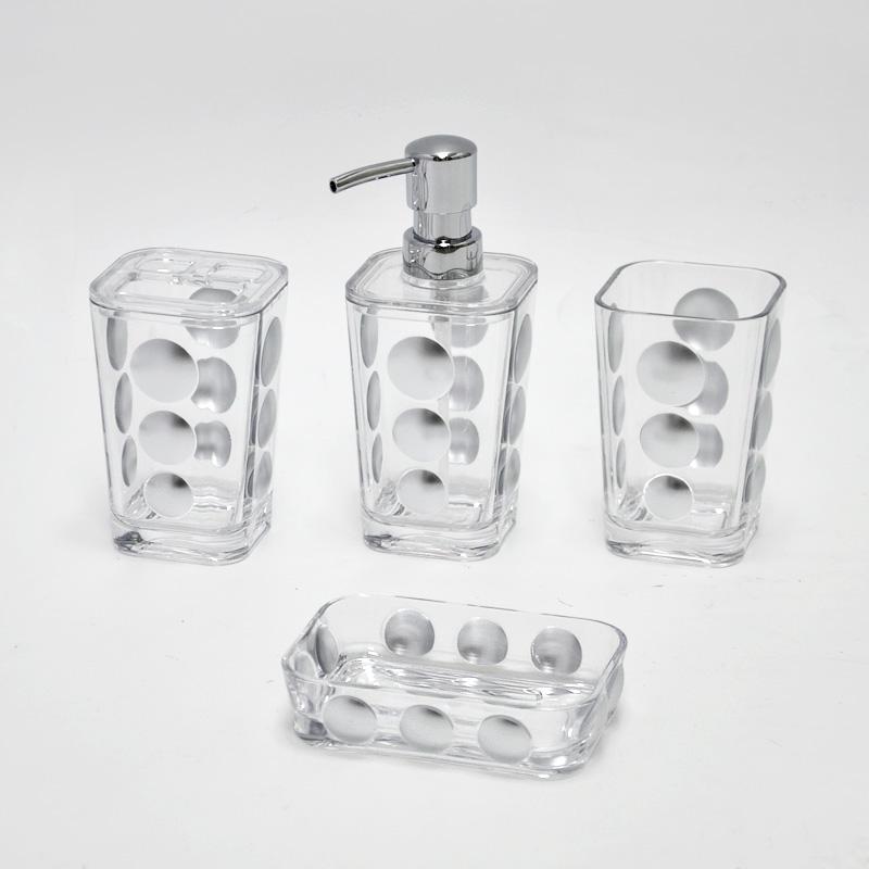 Hotel Style Clear Acrylic Crystal Bathroom Accessories - Buy Crystal ...