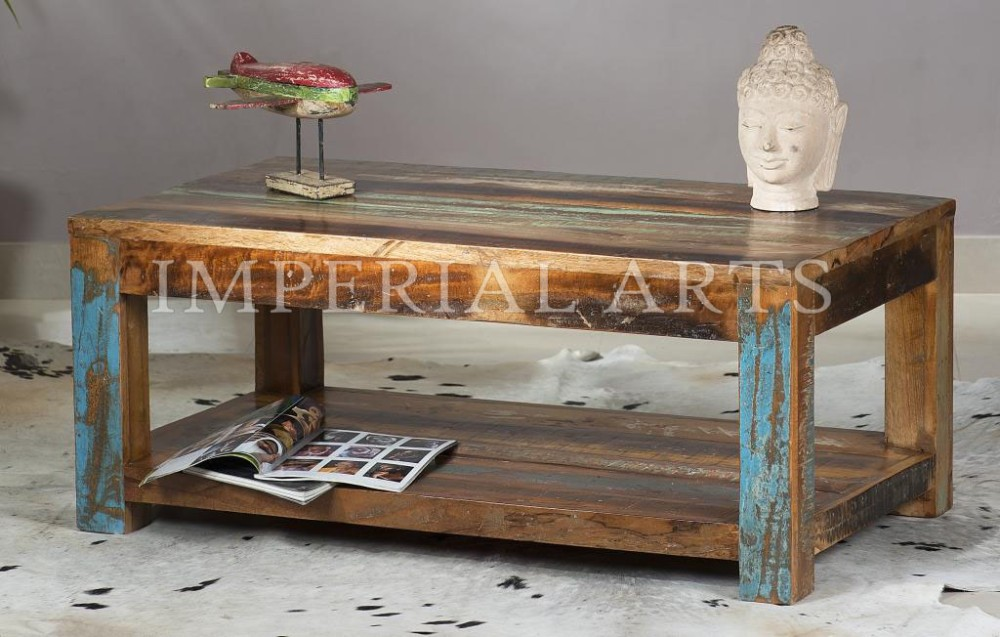 antique recycled wood furniture solid wooden coffee table