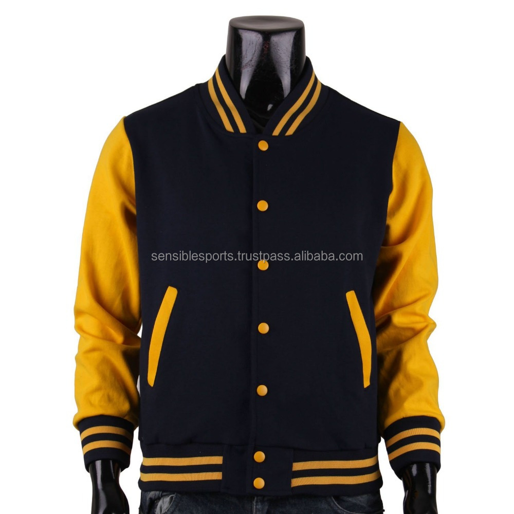 Letterman jacket custom embroidery sweater grey