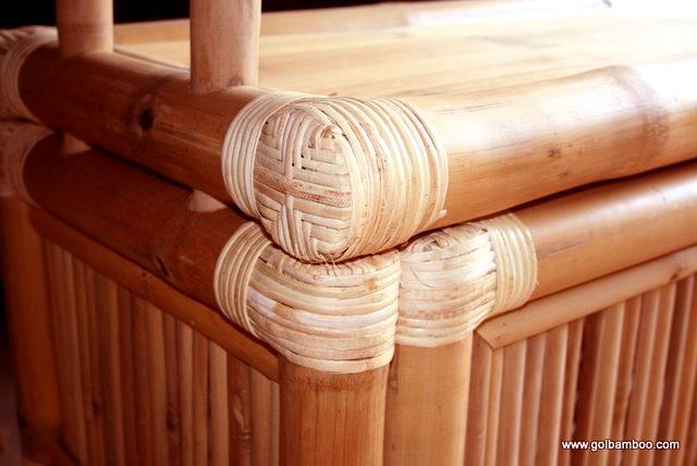 En gros bambou tiki bar cabane naturel bambus bar tiki for Chaise longue bambou