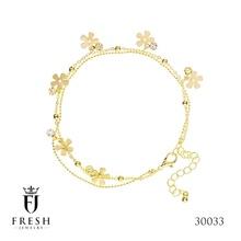 30033 Leg bracelet - Wholesale Gold Plated Jewellery, Gold Plated Jewellery Manufacturer, CZ Cubic Zircon AAA