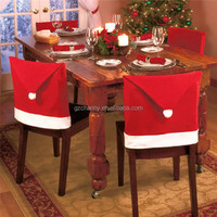 1pc Santa Claus Kitchen Table Chairs Covers Christmas Home Decorations Red Hat Dinner Chair Cover Hight Quality Festival Decor