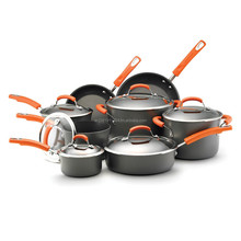 Ray Hard Anodized II Nonstick Dishwasher Safe 14-Piece Cookware Set