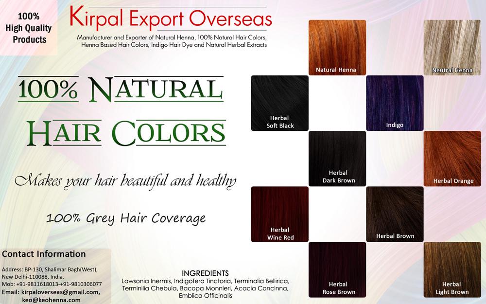 100% Natural Hair Colors