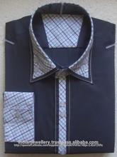 Doble cuello para hombre camisas fabricante
