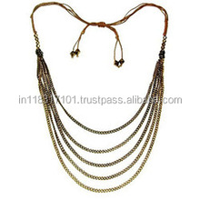 Woman Fashion Gold Multi Thread Necklace