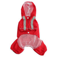 New Waterproof Practical Hoodie Hooded Dog Raincoat Rainy Day Hot Fashion Pet Jacket Small Puppy Apparel