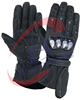 Motorbike Leather Gloves Hard Protection at knuckle