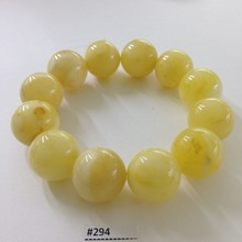 White Amber Press Bracelet Beads 18-20mm 48,2gr #294
