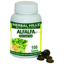 Green Food Alfalfa/Medicago sativa for health product - 100 Tablets