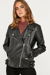 2015 New fashion Arctic Freeze Black Bomber Womens Leather Jacket with Hoodie Leather Jacket for womens
