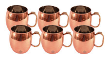Moscow Mule Steel Mug Copper Set of 6 Plated For Use Restaurant Bar Beer Cup Vodka