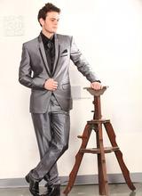 2015 new arrival top quality grey TR fabric blazer with black shirt and tie\mens blazer design