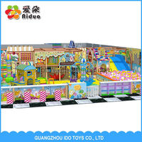 children's games indoor playground with slide with roof