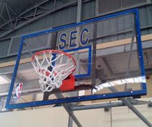 FIBERGLASS/ACRYLIC BASKETBALL BOARD with SNAP BACK RING & NET