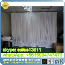 100% polyester blue and white stripe voile finished curtain fabric design arropa drapery