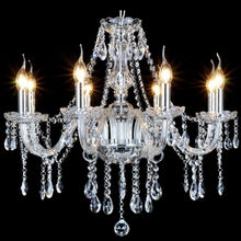 classic glass lighting crystal E14 candle chandelier