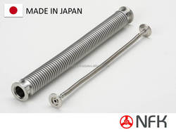 stainless steel flexible hose vacuum pump plumbing made in japan export to europe company