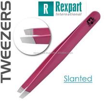 Slanted Pink professional salons eyebrow hair removers tweezer