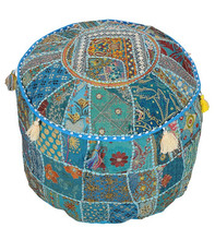 round footstool ottoman /Footstools & Poufs /embroidered pouf ottomans Online on Alibaba