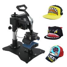 """Black 3.5"""" x 6"""" Heat Press Hat Digital Transfer Cap Press Machine"""